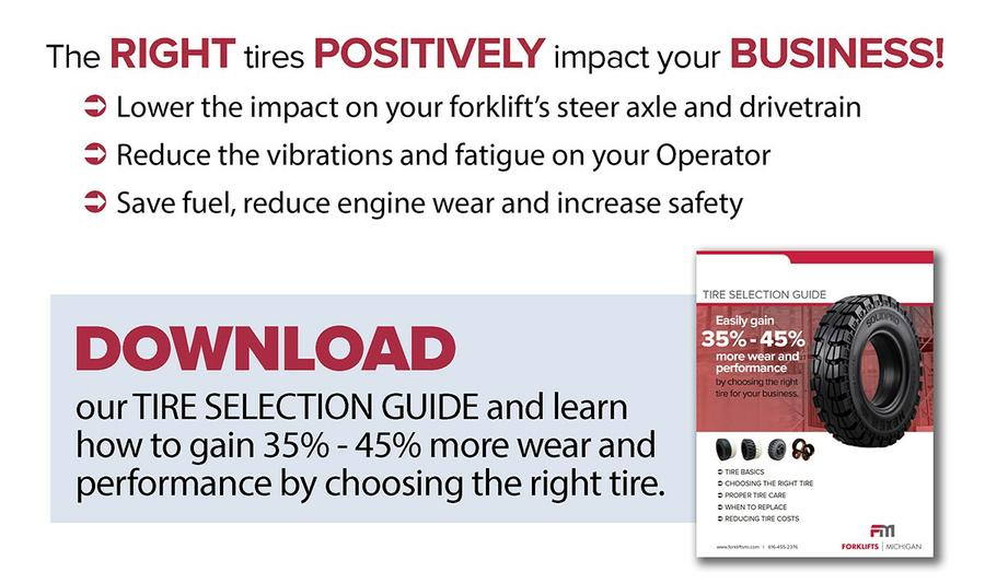 Download our Tire Selection Guide and learn how to gain 35%-45% more wear life and performance by choosing the right tire.