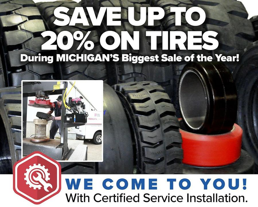 Save up to 20% on Tires - We come to you with Certified Service